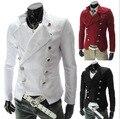 European style men fashion double breasted Suits & Blazer men casual slim  Suits & Blazer