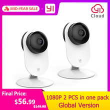 YI 1080p Home Camera Wireless IP Security Surveillance System WIFI cam CCTV YI Cloud Available camera owl (US/EU Edition) White(China)