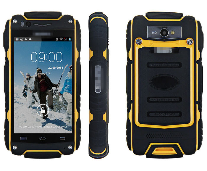Outdoor V8 Smartphone Android4 4 2 MTK6572 Dual Core 4 Screen 3G Unlocked GPS Waterproof Dustproof