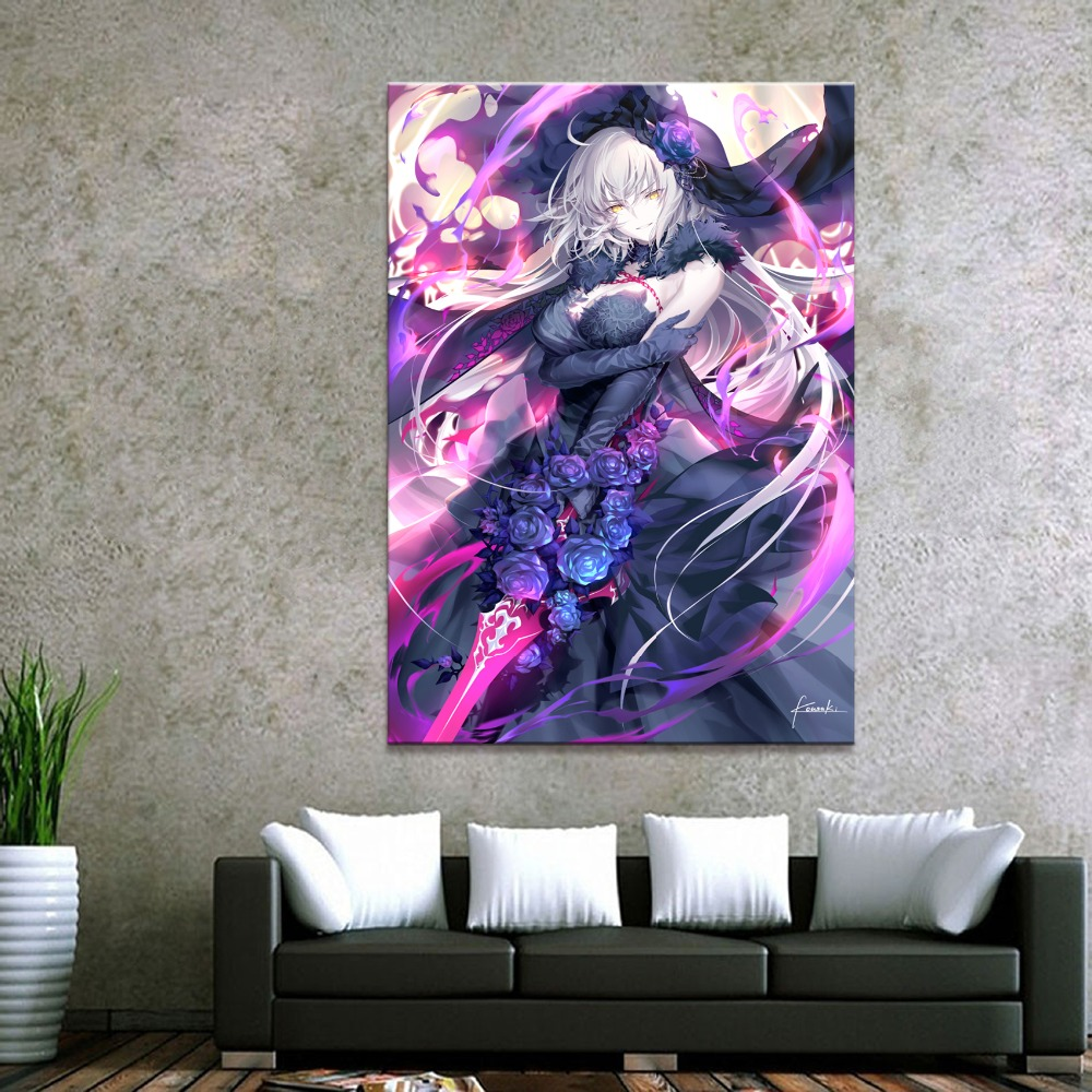 Home Decor Canvas 1 Piece Sexy Anime Fate Grand Order Art Posters and Prints Painting Home Decoration Wall Pictures Bedroom