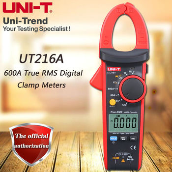 UNI-T UT216A Single AC 600A True RMS Digital Clamp Meter/NCV/ Relative Measurement/LCD Backlight/Flashlight/Auto Shutdown