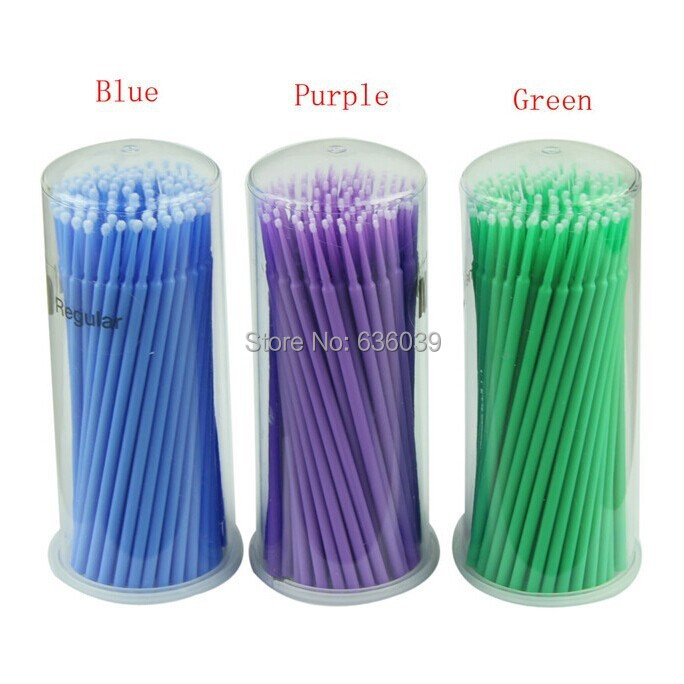 80 barrels Disposable Makeup Brushes Small Cotton Swab Mouth Micro Brush Micro Dentist Materials Free shipping By DHL or Fedex