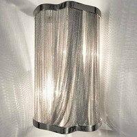 Wall lamp chain Aluminum chain wall bracket silver wall lights lighting corridor lamp garden light porch night light lw510523py