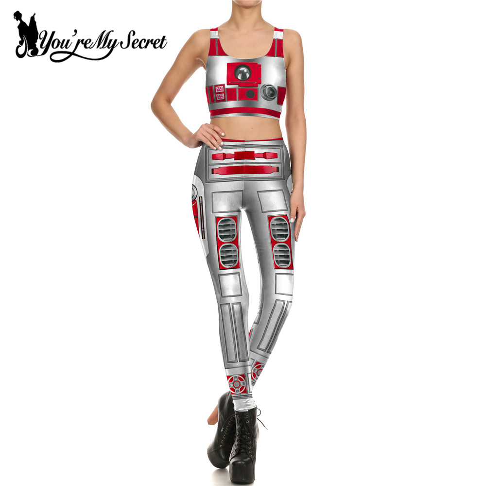[You're My Secret] New One Set Women Leggings 3d Digital Print Star Wars Artoo 2.0 Armor Comic Cosplay Leggin Women Clothings