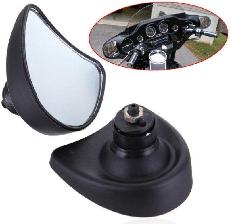 10mm Grand Angle Intérieure Noir Carénage Montage Miroirs Pour Harley Electra Street Glide FLHX 96-13 FLHT FLHTK FLHTCU