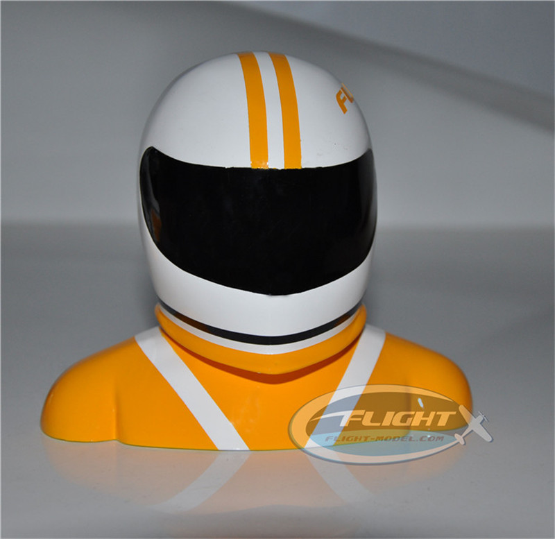 Flight Pilot Statue For 50-100cc RC Plane Orange