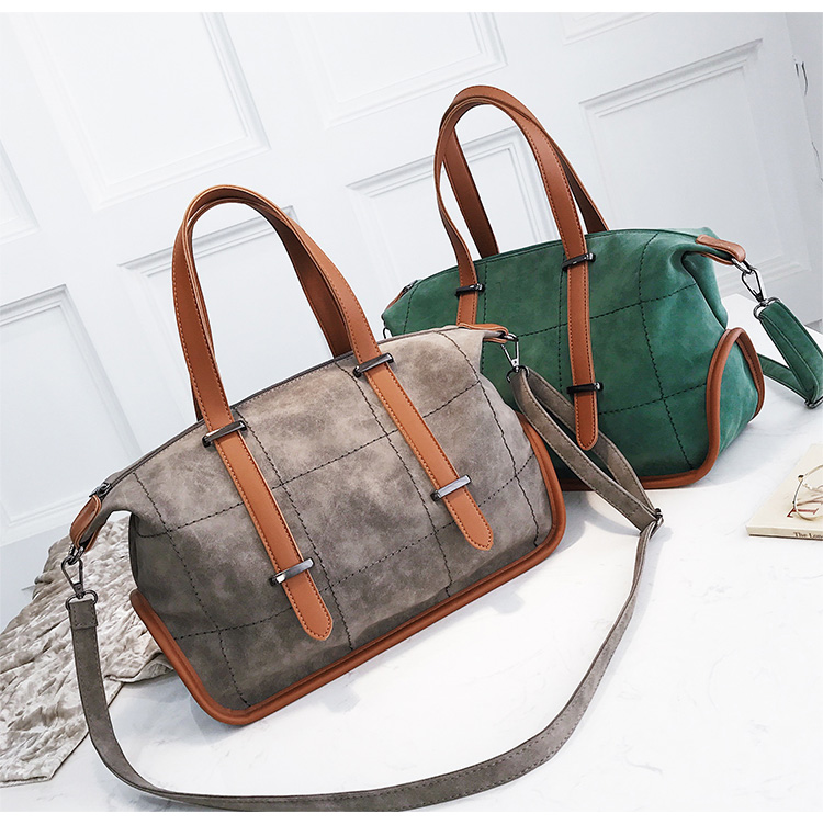 Vintage Fashion Women Handbags Designer Woman Bag 2018 New High quality Mubuck Leather Big Tote bag Female Shoulder Bags 5