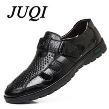 Luxury Classics Genuine Leather Summer Shoes Men Sandals Fashion Male Sandals Beach Shoes Soft Bottom Breathable  Sandals Flats цена 2017