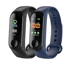 M3 Smart Gelang Gelang Kebugaran Tracker Pedometer Tekanan Darah Heart Rate Monitor Tahan Air Gelang(China)