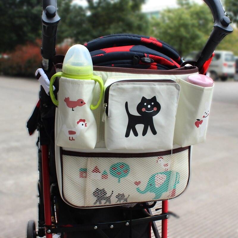 Barnvagn Bilsäte Arrangörshållare Multi-Pocket Reseförvaring Mummisäckar Härlig Cartoon Styling Hängväska för barn