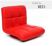 Red Leather Swivel Chair 360 Degree Rotation Living Room Furniture Japanese Tatami Zaisu Legless Modern Fashion Design Chair