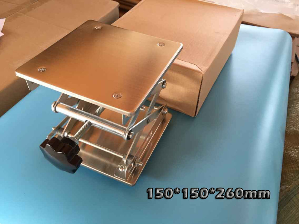 Small 150*150*260mm Manual Lab Lift Table Stainless Steel Lifting Platform 150*150mm Door To Door