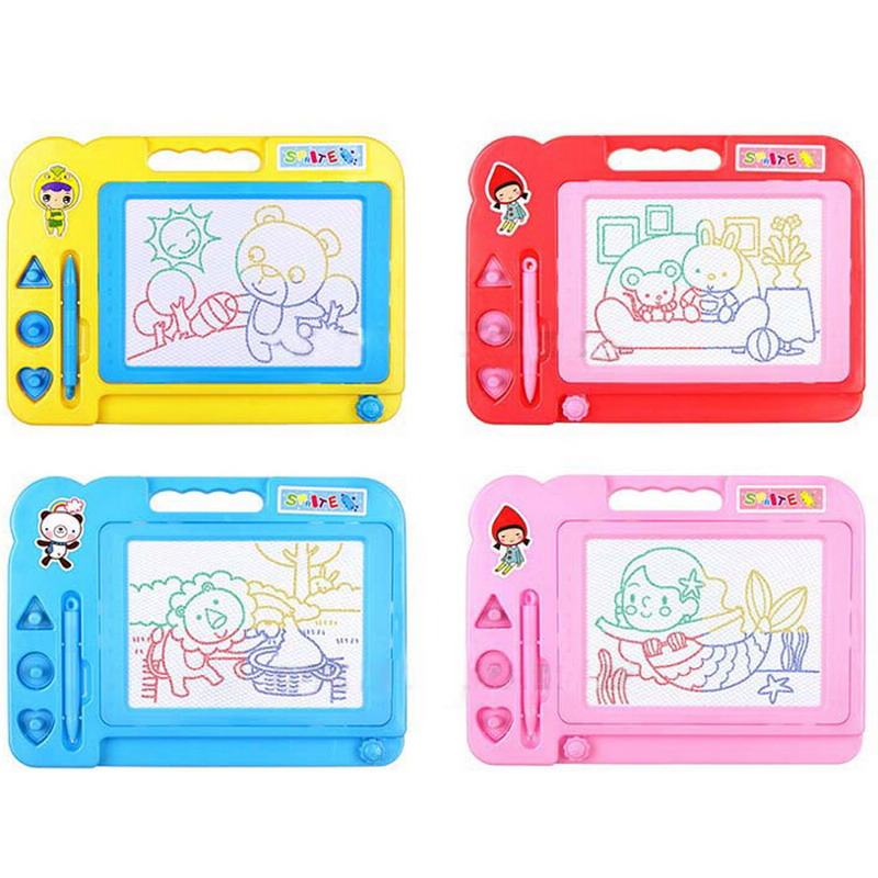 Beducht Plastic Magnetische Voorschoolse Speelgoed Baby Kid Kind Schrijfbord Tekening Schets Sketcher Doodle Schilderij