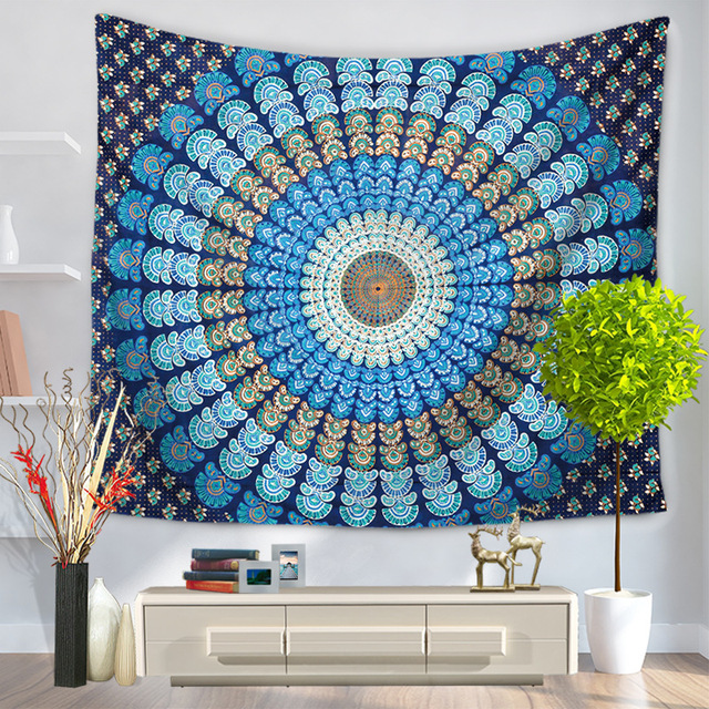 Mandala Tapestry Wall Blankets Printed Endless 150x130cm Polyester Beach Towels Decoration Tapestry Wall Hanging Tapiz Pared Mat