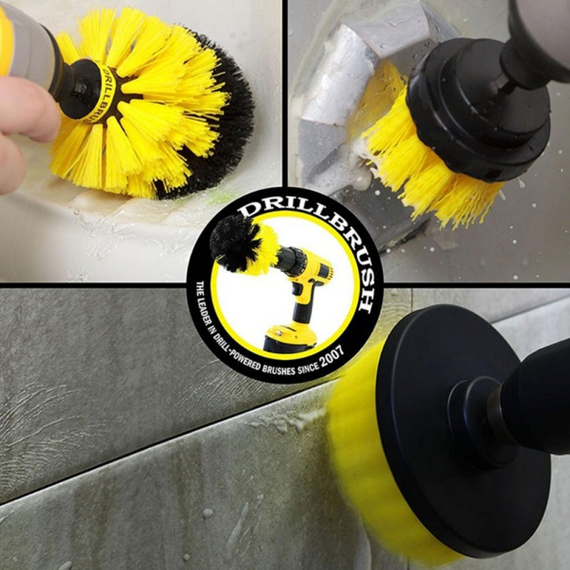Bohrer Pinsel Power W scher Reinigung Pinsel Erweiterte Langes Befestigung Set Alle Zweck Bohrer Peeling Pinsel