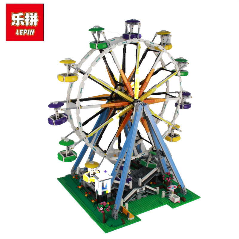 2017 LEPIN 15012 2478Pcs City Expert Ferris Wheel Model Building Kits Blocks Bricks Toys Compatible 10247 2478pcs lepin 15012 city expert ferris wheel model building kits assembling block bricks compatible with 10247 educational toys