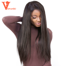 13X6 Large Part Lace Front Human Hair Wigs Straight Wave 130% Density Brazilian Frontal Hair Wig Natural Hair Venvee Hair Remy