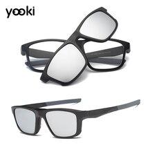 Поляризованные магнитные солнцезащитные очки с зажимом спортивные очки оправа для вождения на открытом воздухе