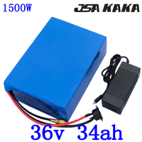 1000W 1500W 36V electric bike battery 36V 35AH Lithium battery pack use LG cell 36V scooter Lithium battery with 5A charger