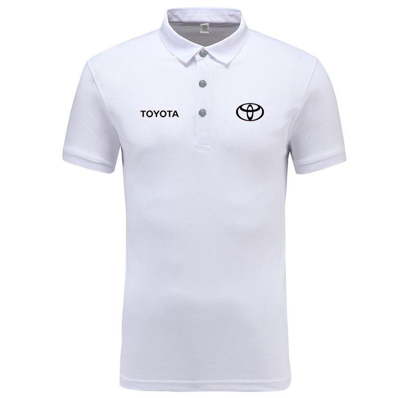 Toyota logo   Polo   Shirt Men Brand Clothes Solid Color   Polos   Shirts Casual Cotton Short Sleeve   Polos