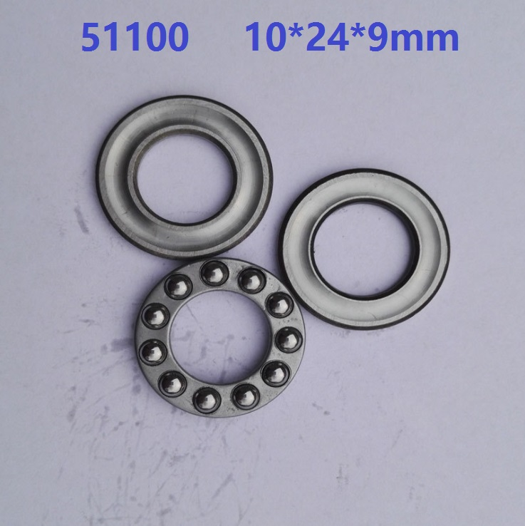 50pcs 51100 Axial Ball Thrust Bearing plane thrust ball bearing 10x24x9mm