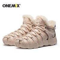 Onemix Winter Boots Men Running Shoes For Women Outdoor Trekking Shoe Sneakers Walking Shoes Autumn Winter