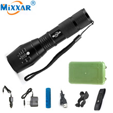 E17 CREE XM-L T6 LED Flashlight 4000LM Super Bright LED Torch Aluminum Torches Light Lamps Adjustable For 3xAAA or 1×18650