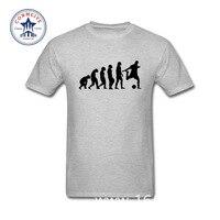 2017 New Summer Funny Tee Evolution Of Footballer T Shirt Cotton T Shirt For Men