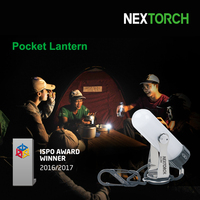 NEXTORCH LED Camping Lantern Magnetic Flashlight 70 Lumens Pocket AA Portable 360 Rotation Magnet Flashlight for Camping Hiking