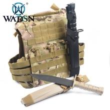 """WADSN חיצוני גרנדה Airsoft פיינטבול שדה קוספליי סכין מודל צבא ארה""""ב טקטי אימון M10 גומי Dummy פגיון"""