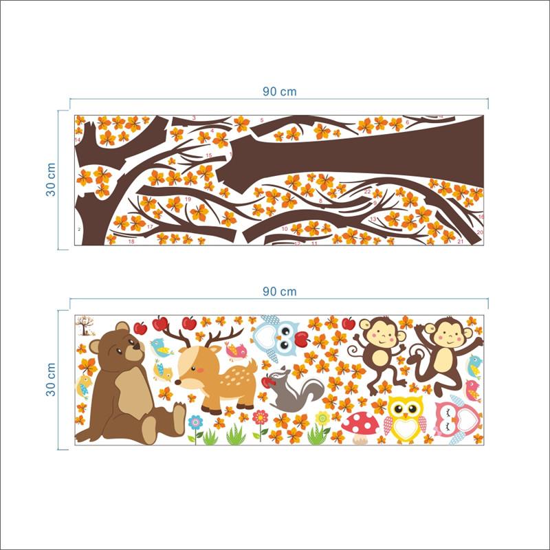HTB1nyj9PpXXXXcGXFXXq6xXFXXXP - Jungle Forest Tree Animal Owl Monkey Bear Deer Wall Stickers For Kids Room
