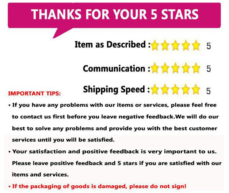 thanks for your 5 star