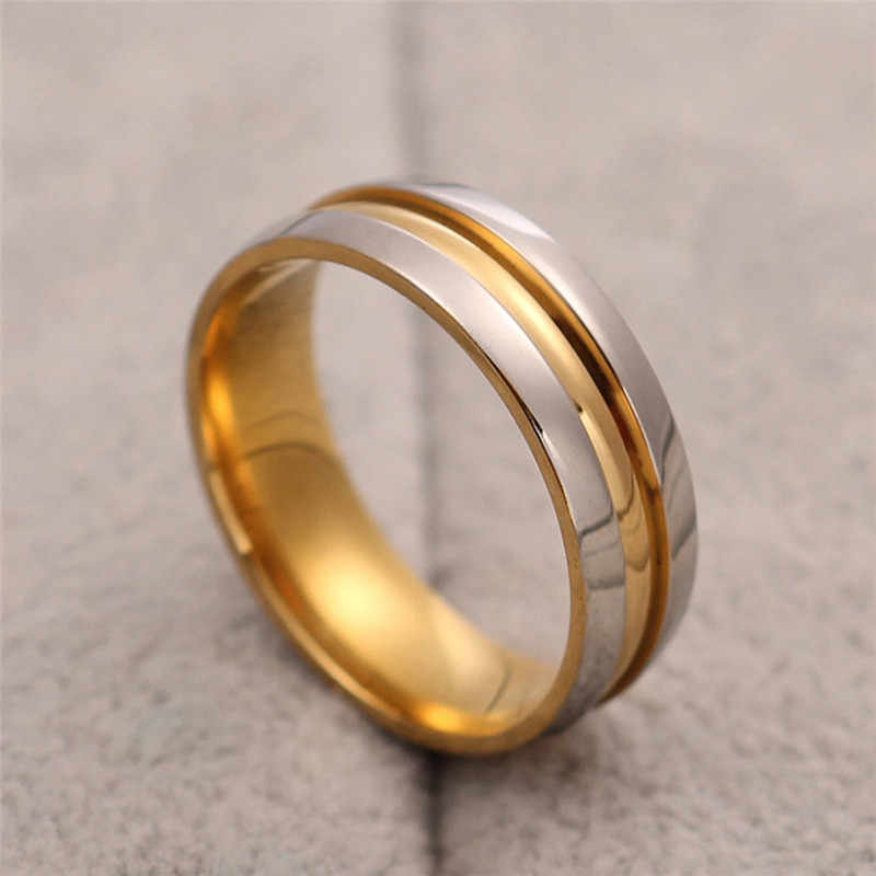 Titanium Rings for Men Women Trajectory Ring Engagement Ring 6mm