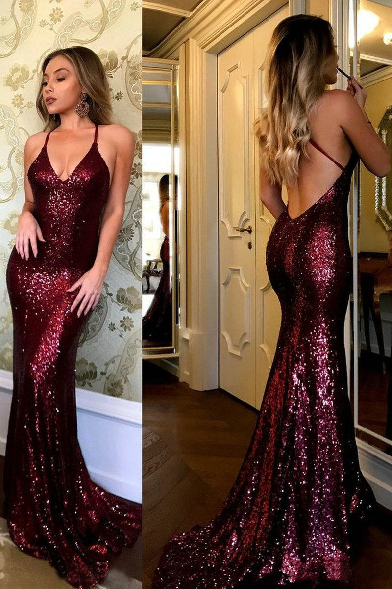 16-1 2019 Plus Size Sexy Mermaid Prom Dresses African Scoop Neck Crystal Beaded Satin Celebrity Dresses Women Dusty Yellow Evening Gowns