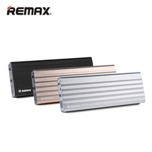 Remax 20000mAh Doppel USB Poverbank mit LED Schnelle Ladung Power Bank Externe Batterie Tragbare Ladegerät Für Xiaomi tabletten telefon(China)