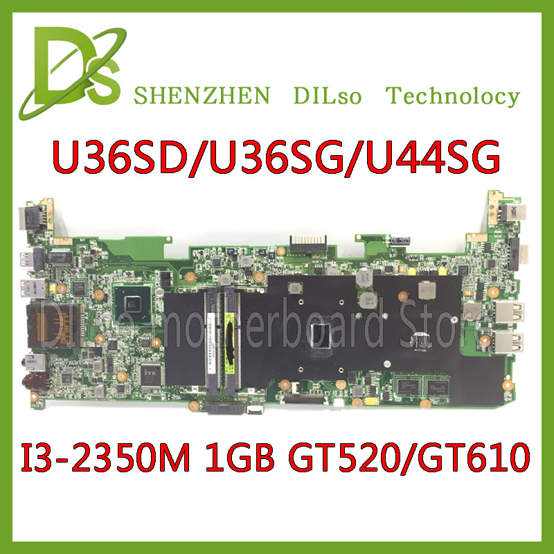 KEFU U36SD For ASUS U36SD Laptop motherboard U36SG U44SG mainboard REV2.1 i3-2350M  onboard 100% tested new motherboard brand new for asus k53sd rev 6 0 motherboard rev 6 0 with i3 processor mainboard