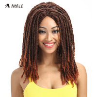 Noble Hair Bounce Curly Long Wigs For Black Women 22 Inch Mixed Color Synthetic Wig Adjustable