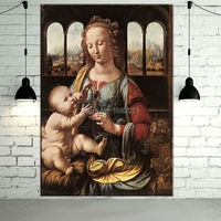 Superb Skills Reproduction Da Vinci The Madonna of the Carnation Oil Painting Hand painted High Quality Da Vinci Canvas Painting