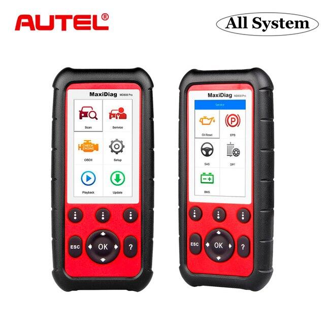 Autel maxidiag md808 pro obd2 ferramenta de diagnóstico do varredor automóvel obd 2 scanner diagnóstico do carro eobd automotivo ferramentas de varredura