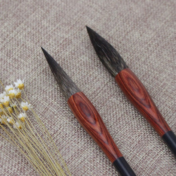Excellent Quality Rat Hair Chinese Calligraphy Brush Middle Regular Script Writing Brushes Painting Supplies Calligraphy Brush 3 pilot svfm 20ef science calligraphy soft brush pink red orange black blue green writing supplies