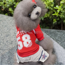 2016 Warm Pet Dog cotton clothes 58 figure pattern Apparel Puppy dog Jumpsuit Hoodie four legs