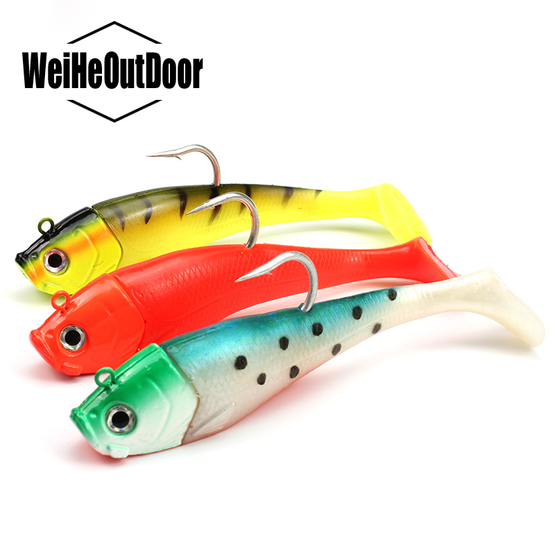 Big Lead Head Soft Fishing Lure Bait 20cm/300g 3D Eyes Jig Fish Head Sinking Crankbait Saltwater Soft Bait Peche Pesca Leurre 1302 fish bait sickle tail soft bait fish soft 105 6 5g capuchin five loaded