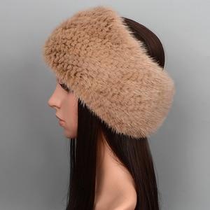 Image 5 - 2019 ฤดูหนาวแหวนถักผ้าพันคอผู้หญิง 100% ของแท้ขนสัตว์ผ้าพันคอ wraps หญิง Scarves สุภาพสตรี mink fur shawls สำหรับผู้หญิง wraps lady