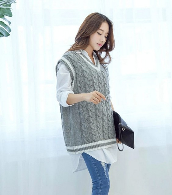 Invierno mujer suéter chaleco sin mangas para mujer de diseño ...