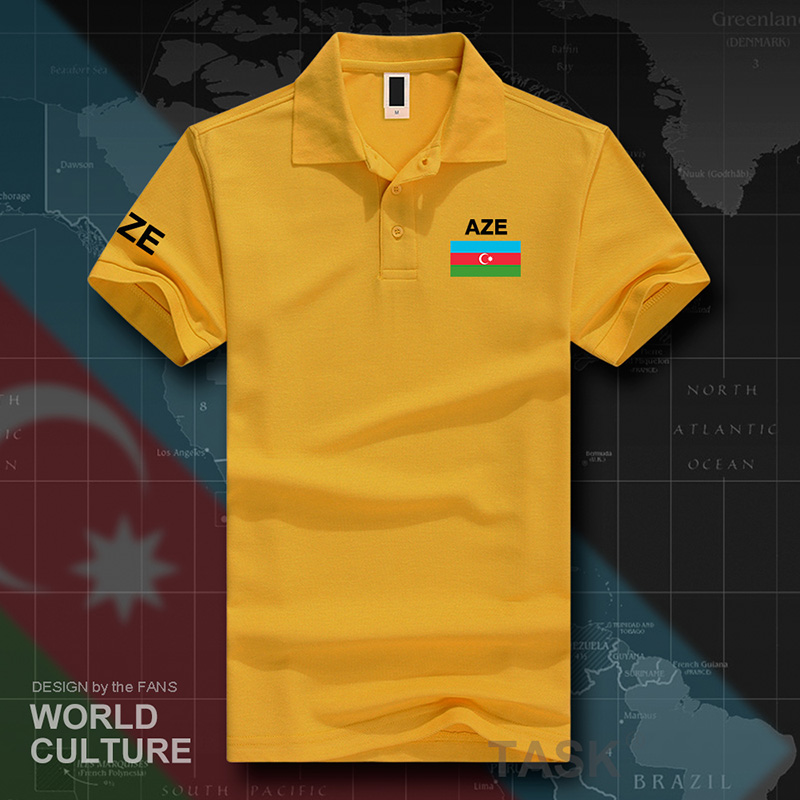 Azerbaijan Azerbaijani   polo   shirts men short sleeve white brands printed for country 2017 cotton nation team flag new casual AZE