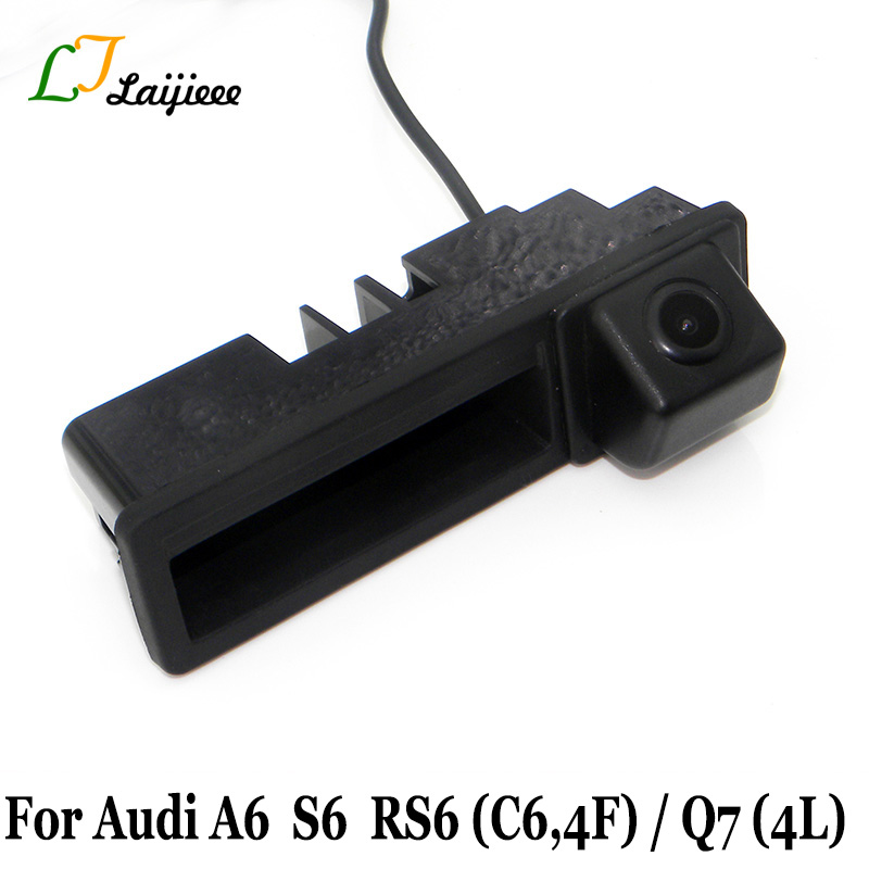 Car Trunk Handle Camera For Audi A6 C6 4F S6 RS6 2005~2011 / Auto Reverse Backup Rearview Camera For Audi Q7 4L 2005~15