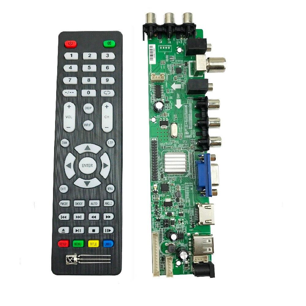 Image 2 - Универсальная ТВ плата DVB T2 ds d3663lua поддержка DVB T2/T/C русский с lvds кабелем 40pin 1ch 6 бит 366346-in Интегральные схемы from Электронные компоненты и принадлежности on AliExpress