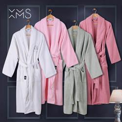 XMS Фирменная Новинка банные халаты для влюбленных пар с вышивкой теплая парная Пижама Халат Для мужчин 100% хлопок пижамы халаты Мужской