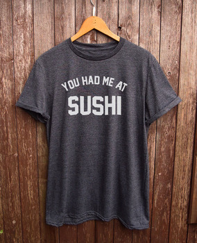 Sushi shirt - funny tshirt, white t shirt, graphic tshirt, food gift, japan clothing More Size and Colors-B099