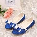 35% Summer Children girl's Elsa girl princess Crystal Rhinestone cross shoes single fashion dance Leather shoes 26-35 1603